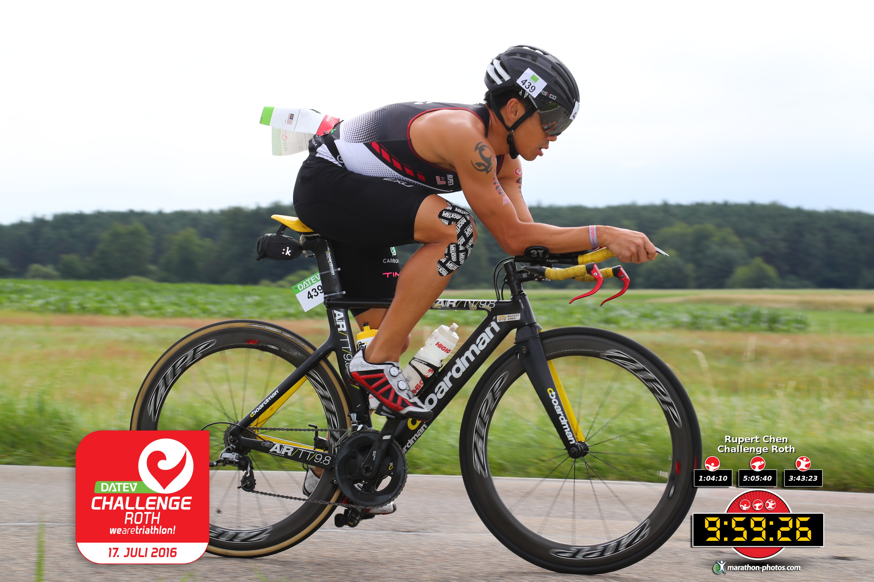 Rupert came close to beating the Malaysian triathlon record at Challenge Roth, Germany. (ChallengeRoth)