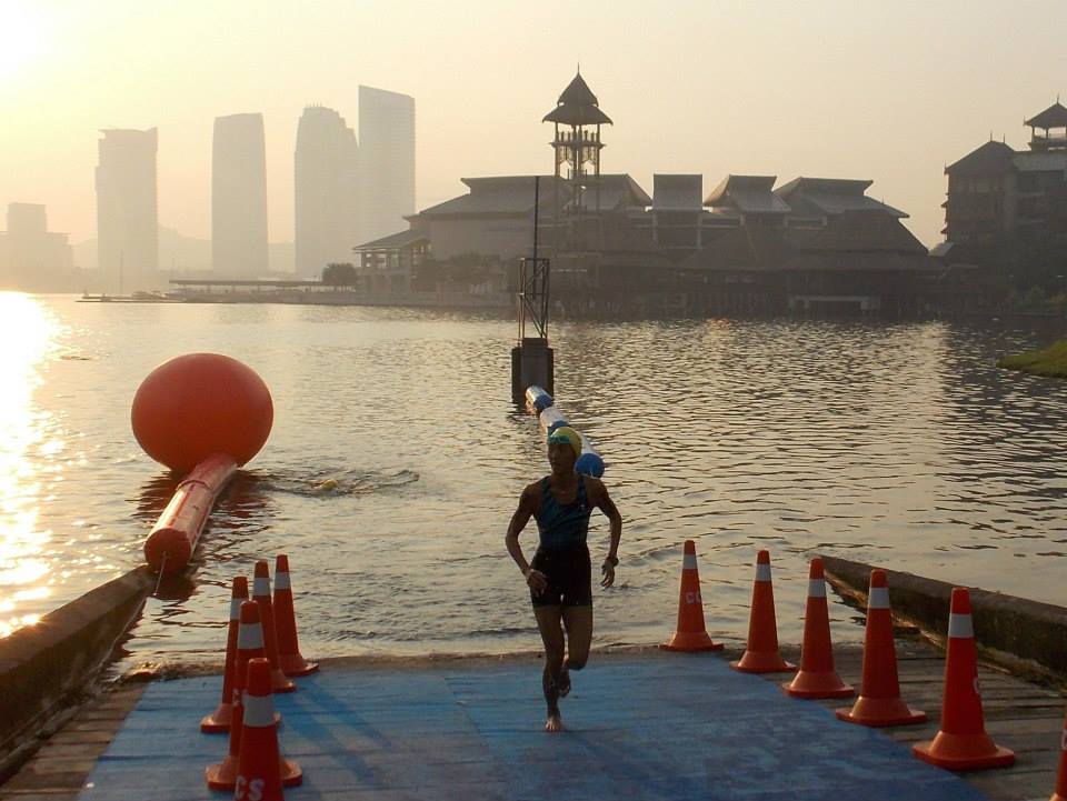 Sue Teoh out of water
