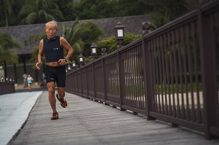 Age is not a deterrent to 78 year old Yee Sze Mun as he embraces the Chapman's Challenge.