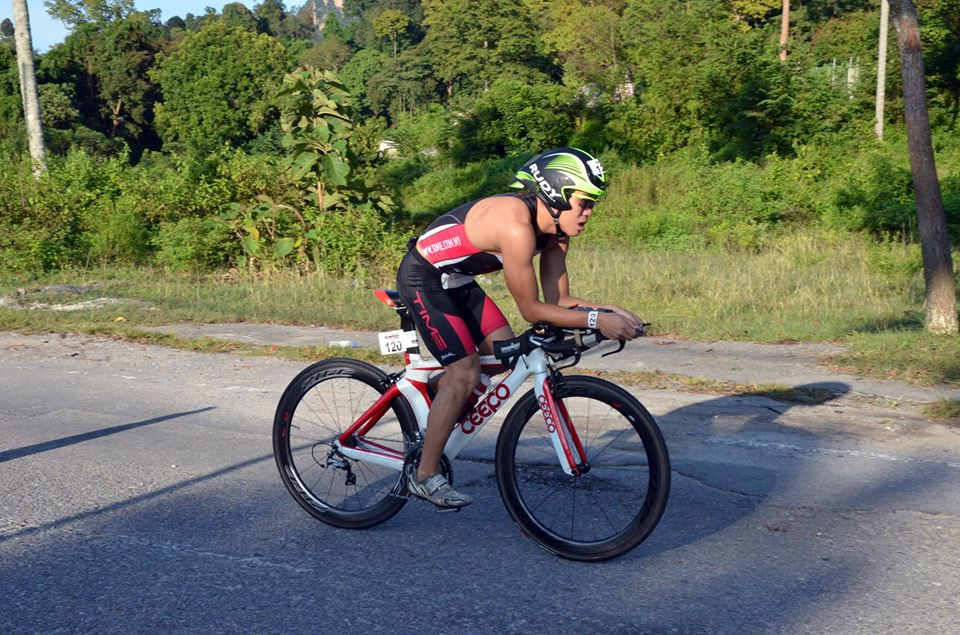 Barry Lee at Ironman Malaysia. Photo from Facebok/Rudy Project MY