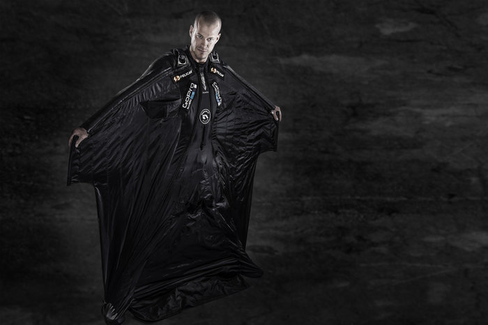 Jeb Corliss is a mean machine in all-black. Image from Redbull.com
