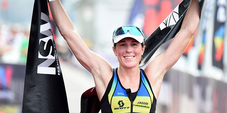 Annabel Luxford rode her bike like she stole it to secure victory over her rivals. Photo from Ironman.com