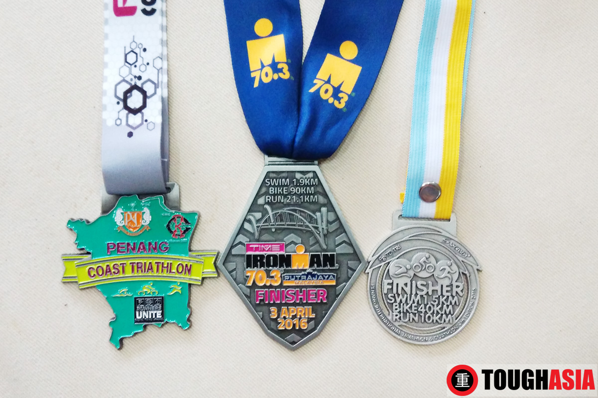 Richard was gunning to complete his trifecta of 3 triathlons in 4 weeks.