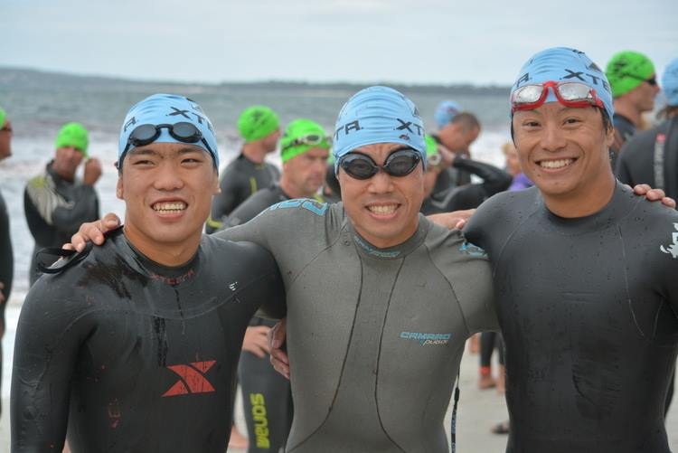 Our Asian pros; Barry Lee from Malaysia, Kaon Cho from Korea, and Jason Hsieh from Hong Kong. (Xterra)
