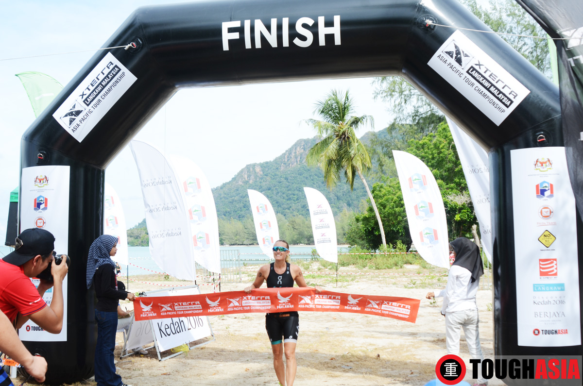 Jacqui Slack set a blistering time on the Xterra Malaysia course to win the day.