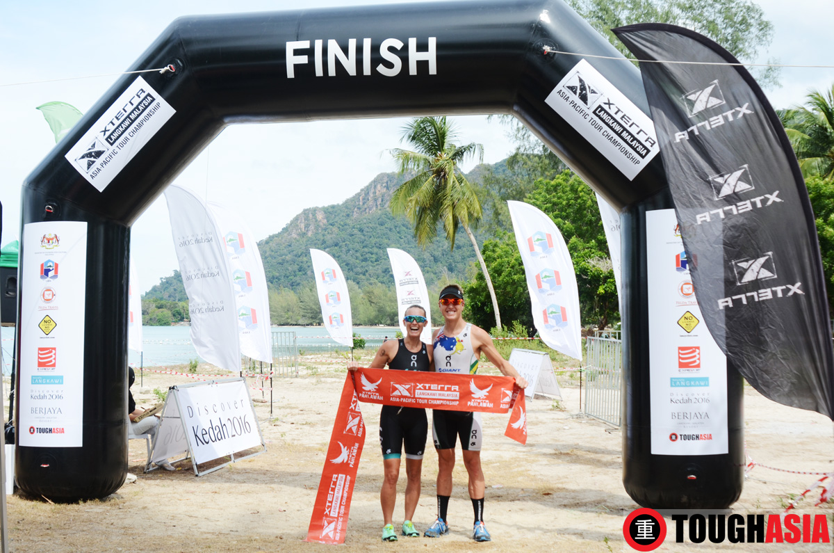 Newly engaged Xterra Pros Ben Allen and Jacqui Slack powered up their double dynamos to win Xterra Malaysia