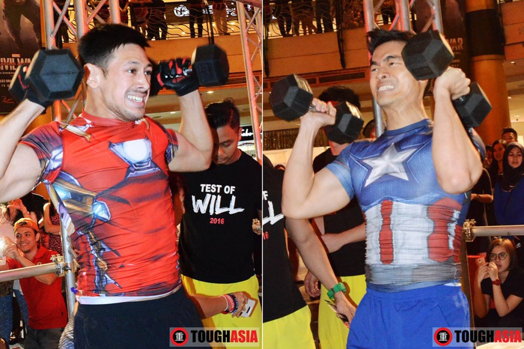 Who did the overhead press better, Ironman or Captain America?