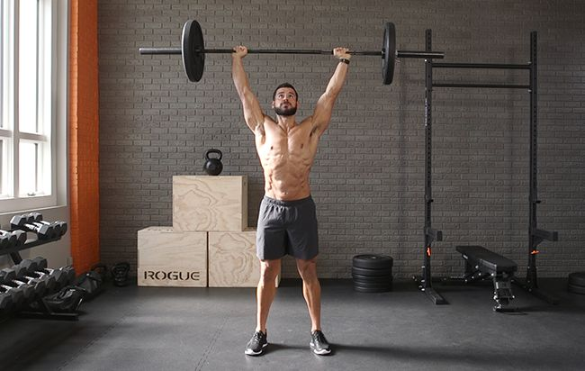 The overhead carry is also great for building midline stability and strength. (Men's Health)