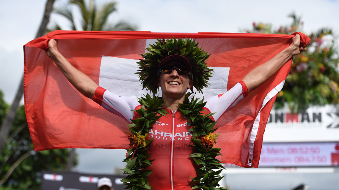 Swiss Daniela Ryf claims the Ironman World Championship with a new course record for the ladies. (Ironman.com)