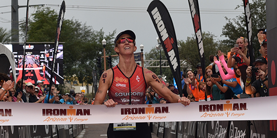 Meridith Kessler wins Ironman Arizona three times in a row. (Ironman.com)