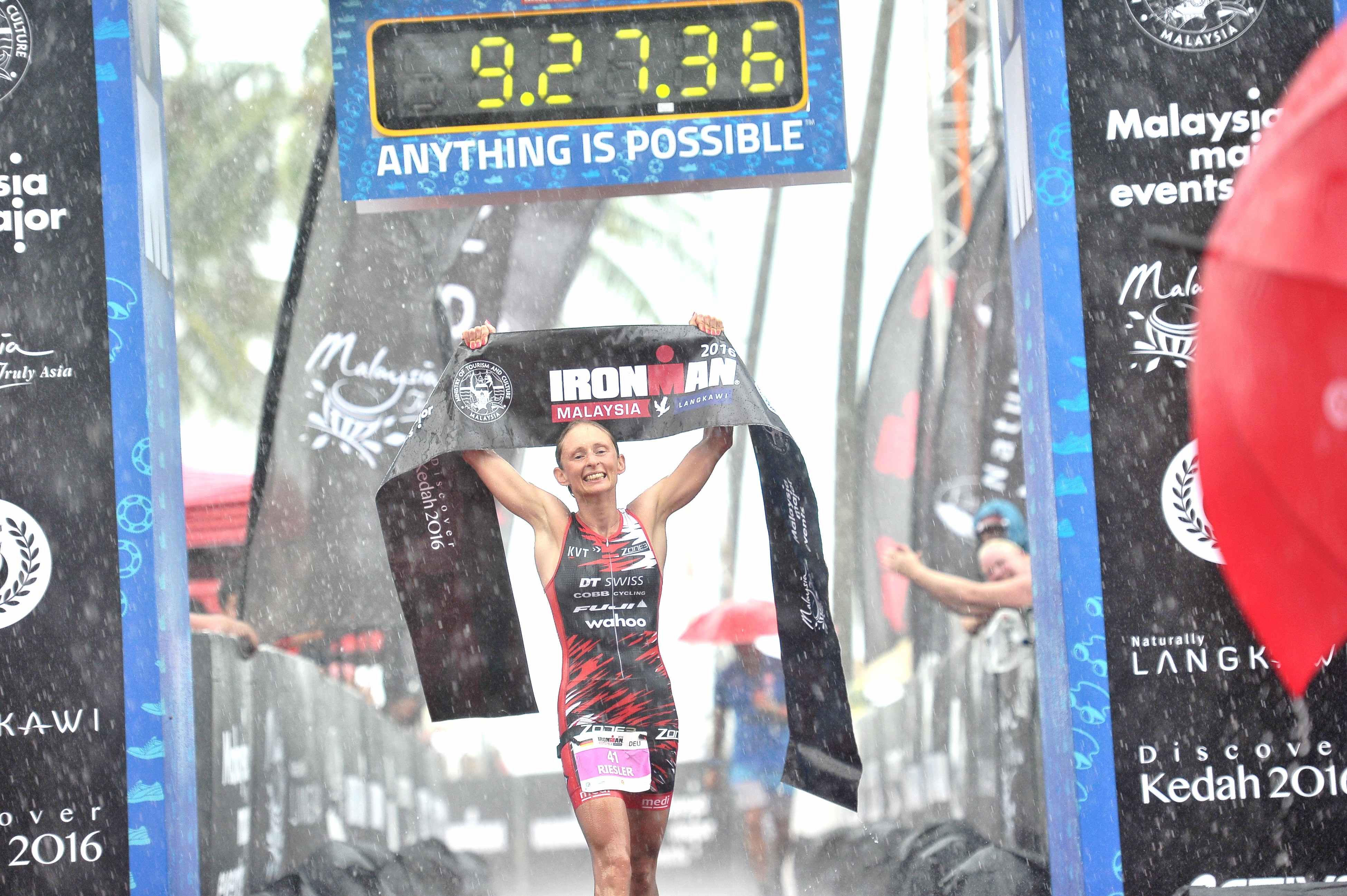 Diana Riesler wins Ironman Malaysia three times in a row.