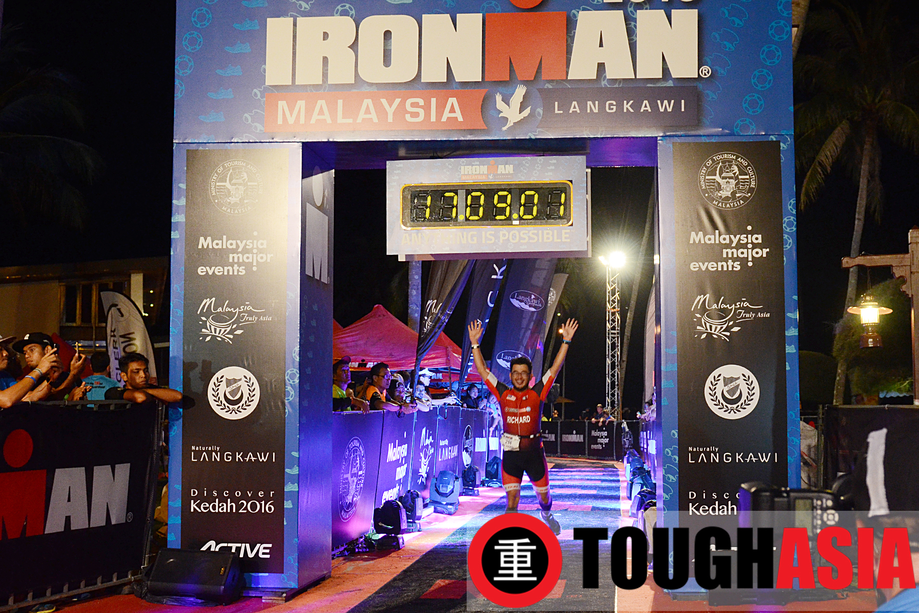 Richard Lee completes his maiden Ironman Malaysia in Langkawi.